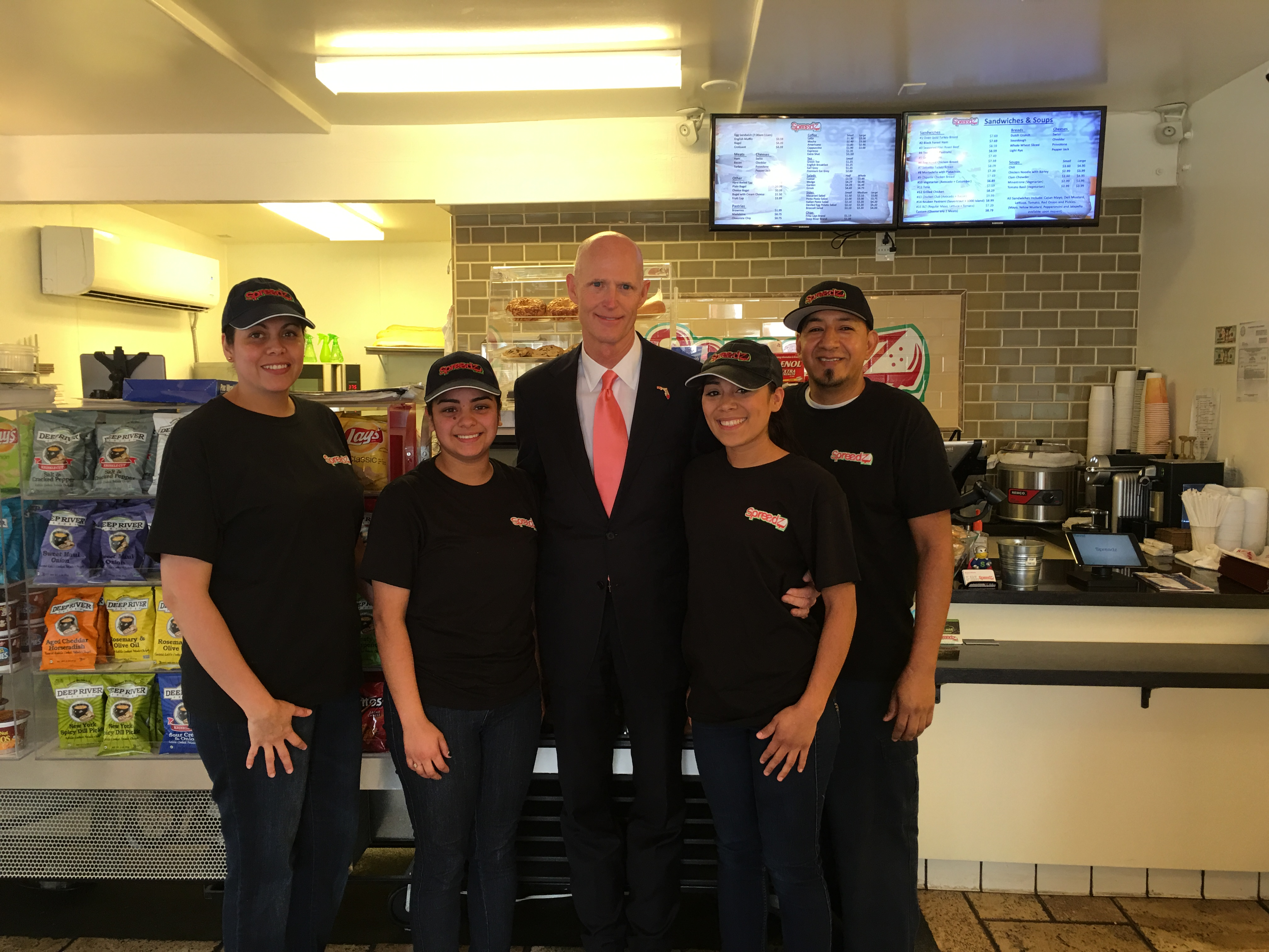 Florida Governor Rick Scott stop at Spreadz